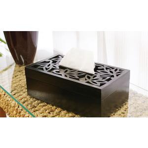 ティッシュケース 木製 おしゃれ 木 アジアン雑貨 バリ ティッシュボックス 北欧 モダン ティッシュケース ロータス|es-style