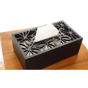 ティッシュケース 木製 おしゃれ 木 アジアン雑貨 バリ ティッシュボックス 北欧 モダン ティッシュケース フラワー|es-style