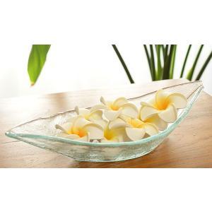 ガラス ボートトレイ おしゃれ トレー バリガラス ボウル 花器 フラワーベース アジアン 雑貨 バリ インテリア 鉢 ポプリ|es-style