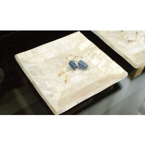 シェル トレイ パールホワイト S おしゃれ アクセサリートレイ アジアン雑貨 トレー バリ雑貨 ホワイト カピス貝 北欧 モダン|es-style