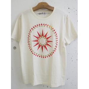 CONTINUUM (コンティニューム) オーガニックコットン吊り編みTシャツ ステンシルプリントT −THE CIRCLE OP TIPI -|escargot-circus