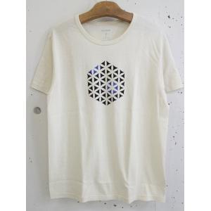 CONTINUUM (コンティニューム) オーガニックコットン吊り編みTシャツ ステンシルプリントT −FLOWER OF LIFE-|escargot-circus