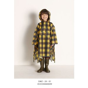 DANKE (ダンケ) KIDS RAIN CAPE キッズレインケープ  -YELLOW× BROWN CHECK- |escargot-circus