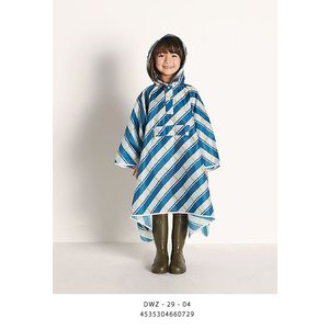 DANKE (ダンケ) KIDS RAIN CAPE キッズレインケープ  -BLUE ×YELLOW CHECK- |escargot-circus