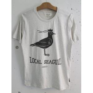 SYNDICATE (シンジケート)  ウクライナブランド メンズプリントTシャツ - LOCAL SEAGULL- グレーボディ|escargot-circus