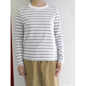 TINA and SUSIE(ティナアンドスージー)TT174004 ラフィボーダー 長袖Tシャツ escargot-circus