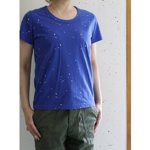 TINA and SUSIE(ティナアンドスージー) 星屑刺しゅう天竺 半袖Tシャツ 15T201 -BLUE- escargot-circus