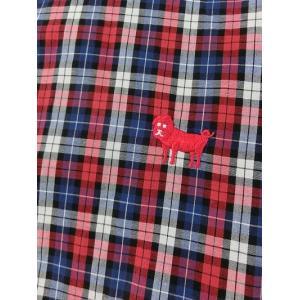 weac. (ウィーク) パグちゃんシャツ RED CHECK −小衿シャツ− 【LADIES】|escargot-circus|04