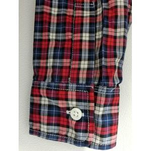 weac. (ウィーク) パグちゃんシャツ RED CHECK −小衿シャツ− 【LADIES】|escargot-circus|05