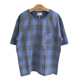 weac. (ウィーク) TIMTIM  ティー&シャツ  BLUE CHECK × BLUE  【MENS】|escargot-circus