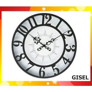掛け時計 インターフォルム GISEL CL-4960-BK「cl4960bk」「送料区分B」|esco-lightec
