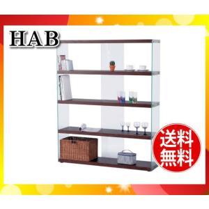 「送料無料」ワイドグラスシェルフ ラック HABシリーズ ブラウン HAB-625BR「HAB625BR」東谷「代引不可」|esco-lightec
