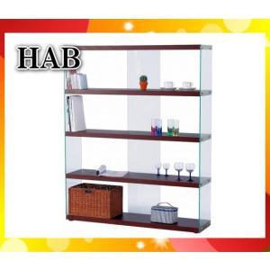 ワイドグラスシェルフ ラック HABシリーズ ブラウン HAB-625BR「HAB625BR」東谷「代引不可」「送料1620円」|esco-lightec