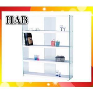 ワイドグラスシェルフ ラック HABシリーズ ホワイト HAB-625WH「HAB625WH」東谷「代引不可」「送料1620円」|esco-lightec