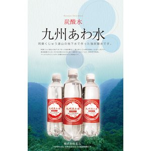 北斗九州あわ水 炭酸水500mlペットボトルx...の詳細画像1