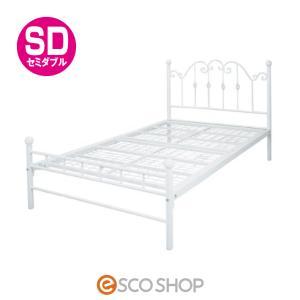 Del Sol (デルソル) ブリジットSD セミダブル BSK-905SDS ホワイト お姫様ベッド(送料無料)(同梱不可)(代引不可)(メーカー直送)|escoshop