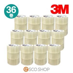 3M スコッチ 透明梱包用テープ 313-3PN 36巻 お得パック(住友スリーエム 3M) (送料無料)|escoshop