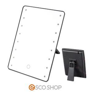 ブライトニングミラー タッチ YLD-2500(送料無料)(LEDブライトミラー) 鏡 卓上 ミラー ライト付き タッチセンサー|escoshop
