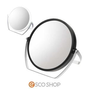 鏡 スタンドミラー 卓上 拡大鏡 10倍 拡大ミラー メイク 両面 拡大 丸型