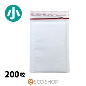 クッション封筒 小 スリムCDサイズ 200枚 (封かんシールあり 開封テープあり・白 150×192+ベロ40mm) (送料無料)(メーカー直送)(代引不可)(同梱不可)|escoshop