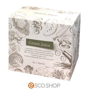 グリーンジュース 3g×30包 (青汁 ケール ゴーヤ 大麦若葉 植物発酵エキス 健康飲料 ジャパンギャルズ)|escoshop