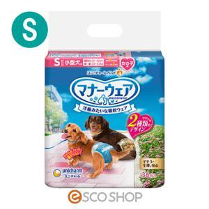 (10%OFF!)ユニチャーム マナーウェア 女の子用 小型犬用 Sサイズ チェック 36枚(ユニ・チャーム マナーベルト おむつマナーパンツ 犬用 ペット用 トイレ)|escoshop