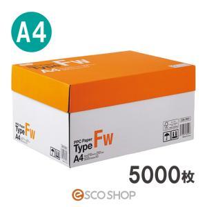 コピー用紙 A4 5000枚 (ファインホワイト) (A4用紙(500枚x10冊)コピー&レーザー)(送料無料)(同梱不可)(代引不可)(メーカー直送)|escoshop