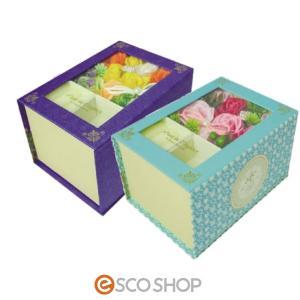 Q-FLA アクセサリーボックス フルールドエレガンス (薔薇 ローズ バスフレグランス ソープフラワー 入浴剤 母の日 ギフト プレゼント ホワイトデー)(送料無料)|escoshop