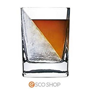 コークシクル ウィスキーウェッジ(7001 グラス 製氷機 ロックグラス コップ 保冷 アイス ブランデー ウォッカ 焼酎) escoshop
