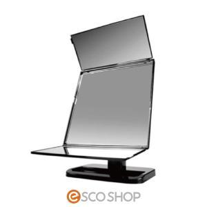 鏡 ミラー 三面鏡 360度回転 角度調整 ガラス鏡