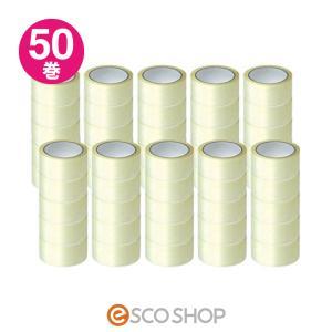 OPPテープ 48mm×50m 50巻き(梱包テープ 梱包用テープ 透明テープ 梱包資材 梱包材)(送料無料)|escoshop
