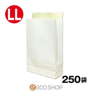 宅配袋 梱包袋 特大 LLサイズ 250枚 テープ付き 白色 無地(A3 250袋 晒片艶 日本製 梱包資材 紙袋 宅急便 470*320*110mm)(送料無料)|escoshop