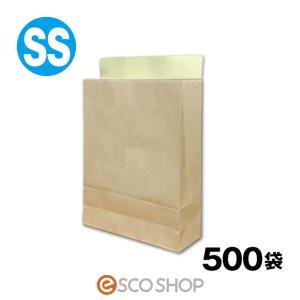 宅配袋 クラフト 特小 SSサイズ 500枚 テープ付き 茶色 無地(A4 500袋 梱包袋 日本製 梱包資材 紙袋 宅急便 bagSS)(送料無料)(同梱不可)|escoshop