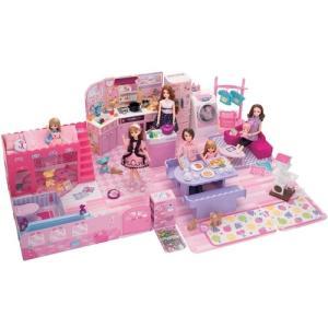 リカちゃん チャイムでピンポーン ひろびろゆったりさん  おもちゃ こども 子供 女の子 人形遊び ハウス クリスマス プレゼント 3歳|esdigital