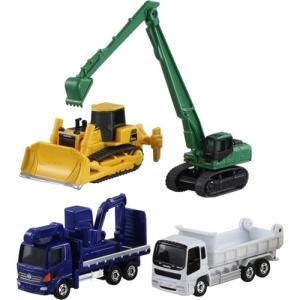 建設車両セット  おもちゃ こども 子供 男の子 ミニカー 車 くるま 3歳 トミカ|esdigital