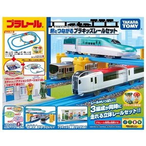 ラッピング対応可◆プラレール 駅とつながるプラキッズレールセット  クリスマスプレゼント おもちゃ ...