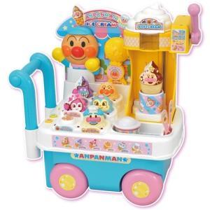 アンパンマン ソフトクリームもちょうだい!! キラピカDXアイスワゴンショップ  おもちゃ 3歳〜 お店屋さん ままごと|esdigital