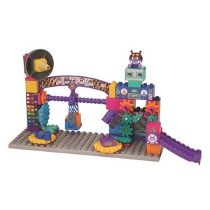 ブロックラボ ばいきんまんのくるくるメカ工場ブロックバケツ  おもちゃ こども 子供 知育 勉強 3...