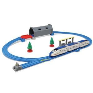 プラレール トンネルを照らそう! ライト付 E7系 新幹線 かがやきベーシックセット  おもちゃ こ...