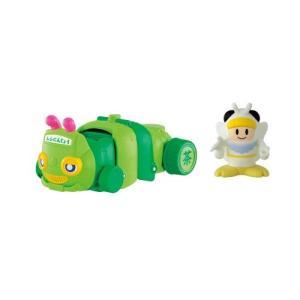 ムシ忍 モンシロニンのあおむしバス  おもちゃ こども 子供 男の子 3歳|esdigital