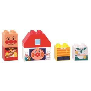 アンパンマン はじめてブロックセット パンこうじょうとアンパンマンブロック おもちゃ こども 子供 ...