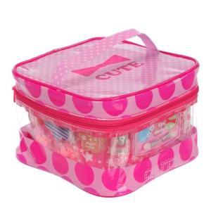 キューティーハート ビニールバニティメイクバッグ おもちゃ こども 子供 女の子 メイク セット