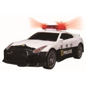ダートマックス 1/32 NISSAN GT-R パトカー おもちゃ こども 子供 ラジコン 6歳