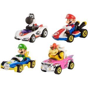 ホットウィール マリオカート 4パックおもちゃ こども 子供 男の子 ミニカー 車 くるま 3歳 ス...