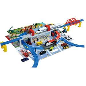 プラレール ひろげて立体!トミカとプラレールの街マップおもちゃ こども 子供 男の子 ミニカー 車 くるま 3歳 ハピネットオンラインPayPayモール