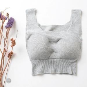 【お得な2枚セット】肌側シルク ソフトブラジャー ホールガーメント 日本製 ノンワイヤー レディース グレー M-L|eses