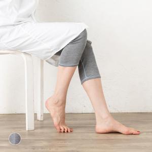 シルク100% 7分丈 レギンス 日本製 リバーシブル レディース グレー M L|eses