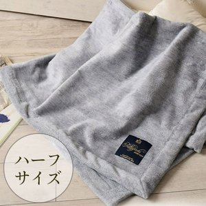 極上家蚕 シルク毛布 ハーフサイズ 日本製 匠の技でふわふわ起毛 グレー|eses
