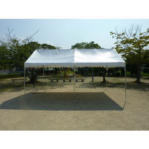 国産組立式パイプテント 2間×3間(3.6m×5.4m) e-sheetオリジナルパイプテント スチール製フレーム 天幕素材エステル帆布|esheetpro