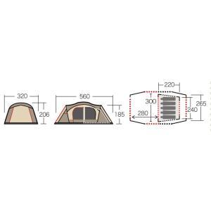 テント シュナーベル5 CAMPAL JAPAN 小川キャンパル アウトドア キャンプ用品|esheetpro|04